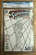 Superman Unchained 4 2014 Lee Snyder 1300 Sketch Variant Cgc 9.8