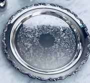 Ol Oneida Silver Platter With The Two Lines Mark 15andrdquo