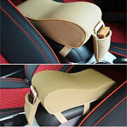 Pu Leather Car Armrest Covers Center Console Box Arm Rest Seat Pads Universal
