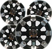 4 14 Rims Wheels For 2002-2009 Yamaha Grizzly 660 W/ Irs 393 Mbml Aluminum