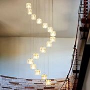 Long Led Cone Pendant Lights Chandelier Light Fixture Stairwell Living Dining