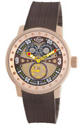 Gv2 By Gevril Menand039s 4043r5 Powerball Swiss Big Date Sub-second Brown Watch