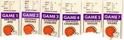 1970s And 1980s Cleveland Browns Ticket Stubs - Pick One