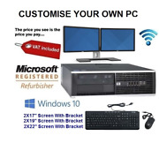 Full Dell/hp Core 2 Duo Desktop Tower Pcandtft Computer Windows 10 And8gb 2tb