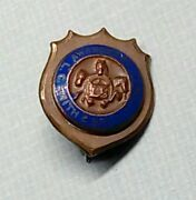 1920's Lc Smith And Brothers Typewriter Company Employee Pin Badge Enamel Award