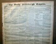 Large Wholesale Lot Of 100 Original Us Newspapers Dated Between 1820 And 1889