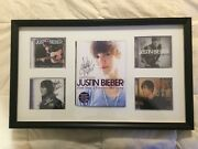 Justin Bieber Signed Autographed Book And Four Cdand039s 5 Full Name Super Rare
