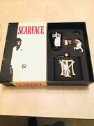 Rare Vintage Scarface Gift Box Set - Flask Bottle Opener And Shot Glass