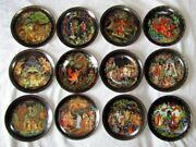 Bradford Exchange Russian Legends Limited Edition Plates Complete Set Of 12.