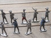 14 Antique World War I  Lead Toy Soldiers