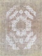 Pasargad Vintage Overdye Collection Hand-knotted Lamband039s Wool Rug- 9and039 2 X 12and039 6