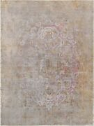 Pasargad Vintage Overdye Collection Hand-knotted Lamband039s Wool Rug- 9and039 5 X 13and039 1