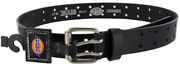 Mens 2 Hole Leather Work Belt Double Prong Bridle Industrial Strength