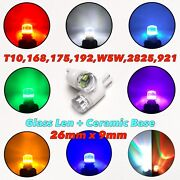 T10 Glass Lens Led License Plate Light Bulb W5w 168 175 194 2825 192 W1 For Gm A