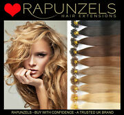 16 Pre Bonded Keratin U Tips Hair Extensions 1g Or 0.5g Double Drawn Rapunzels