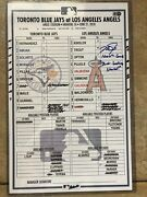 Mike Trout Signed And Inscribed Game Used Line Up 1000 Career Game Milestone Game
