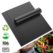 Set Of 2/4/6/8/10 Pack Heavy Duty Bbq Grill Mats Non Stick Reusable Easy Clean