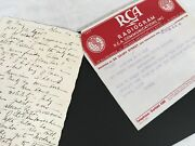Rca Radiogram Feb. 1937 Attached Letter San Francisco