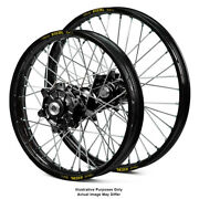 17 Front 17 Rear Black Supermoto Wheels Fit Honda Africa Twin Crf1000-l 2017