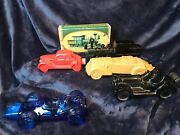 Collection Of Vintage Avon Aftershave Bottles In Shape Of Cars And Locomotive
