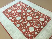 5andrsquo.7andrdquo X 8andrsquo.1andrdquo Red Beige Fine Ziegler Oriental Area Rug Hand Knotted Wool Foyer