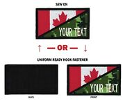 Northern Safariandtrade Morale Personalized Text 2x3.50 Canada Flag Patch - Usa Made