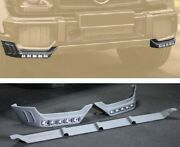 For Mercedes Benz W463 G Class G63 Front Lip Splitters Add-on With Led Drl