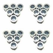 4x Moto Metal Silver Gray 2-1/8 Od 6 Pc Chain Link Rivets For 20- 22 Mo977
