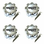 4 Moto Metal Chrome Wheel Center Hub Caps 8x170 8x6.5 8x165.1 Mo963 Dually Mo963