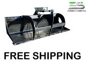 Es New 66 Solid Bottom Grapple Skid Steer Quick Attach Loader - Free Shipping
