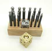 Doming Set 13 Piece Jewellers Tool Solid Steel 2.3 - 11.5mm On Stand With Block
