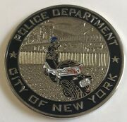 Nypd Scooter Task Force Patrol Borough Manhattan South 2 Challenge Coin