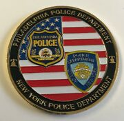 Nypd Ppd Philadelphia Police Department Miles Apart United By Brotherhood Coin