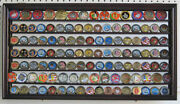 Challenge Coin Medal Display Case Wall Shadow Box Cabinet Mirror Back Coin4-ma
