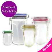 Assorted Colors And Sizes Bottle Shaped Matte Mylar Stand Up Zip Lock Bag M43