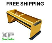 6and039 Xp30 Pullback Snow Pushers Skid Steer Backhoe Bobcat Free Shipping-rtr