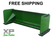 7and039 Xp30 John Deere Snow Pusher Box Skid Steer Loader Tractor - Free Shipping