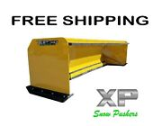 10and039 Xp30 With Pullback Bar Snow Pusher Boxes Skid Steer Bobcat Free Shipping-rtr