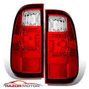 2008-2016 Replacement Tail Light Lamp Pair For Ford F250 F350 Super Duty Truck