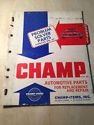 30 40 50 60 And039s Champ Replacement Repair Part Sales Catalog Guide Book