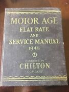 1948 Chilton Company Motor Age Flat Rate And Service Manual Book
