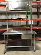 Educational Stainless Demo Table W/ Mirror Drawer And Drain