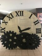 Clock Wood Make Background Any Events With 3 Foams Gears 8ft Wide By 86andrdquo Height