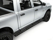 Apu 5 Matte Black Oval Wtw Bent Side Bar For 19-21 Dodge Ram 1500 Crew Cab
