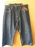 Coogi Baggy 40w 34l Dark Blue Embroidered Jean
