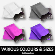 Strong Coloured Plastic Mailing Post Poly Postage Bags Self Seal All Sizes