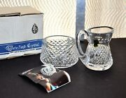 Waterford Crystal Open Sugar And Creamer Set - In Box Never Used - Excellent Cond.