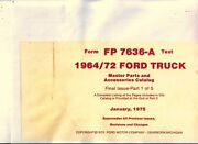 Oem Parts Book Ford Truck All Models Master Parts Book 1964-1972