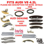Audi A6, S4 4.2 Engine Timing Chain Guides Tensioners Seals Set Allroad S4, 4.2