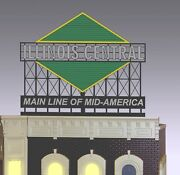Illinois Central Animated Neon Billboard Sign O Scale Millerand039s Engineering 3051
